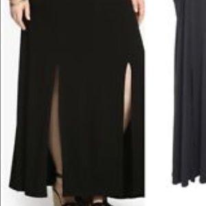 💗Torrid Black Maxi Skirt Size 1 NWOT💗